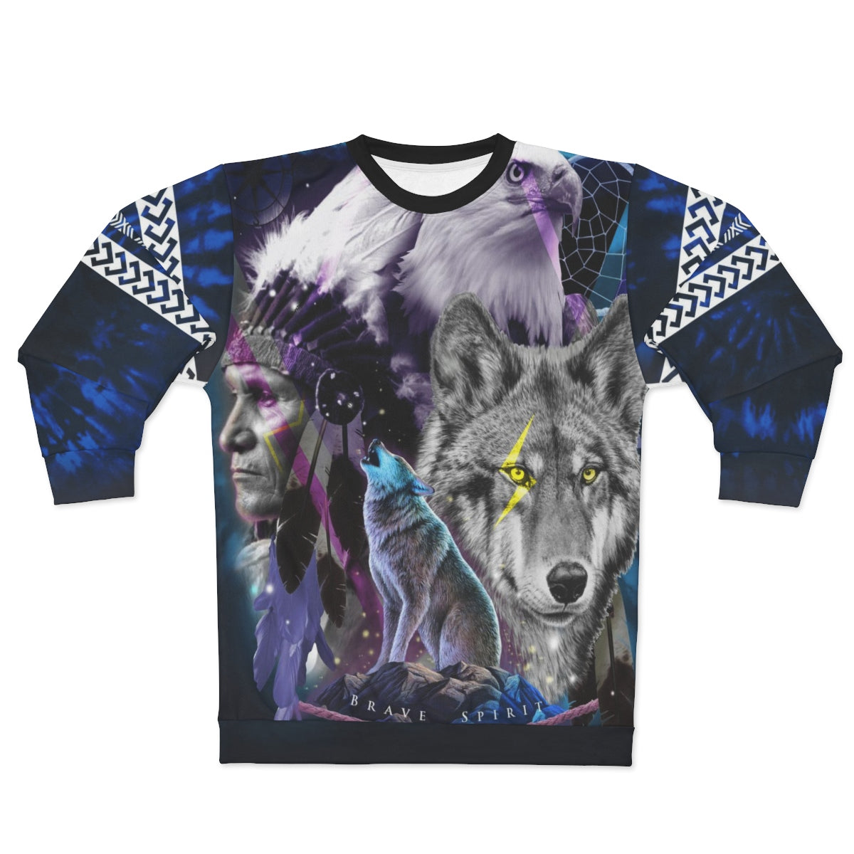 Brave Spirit All Over Print Sweatshirt
