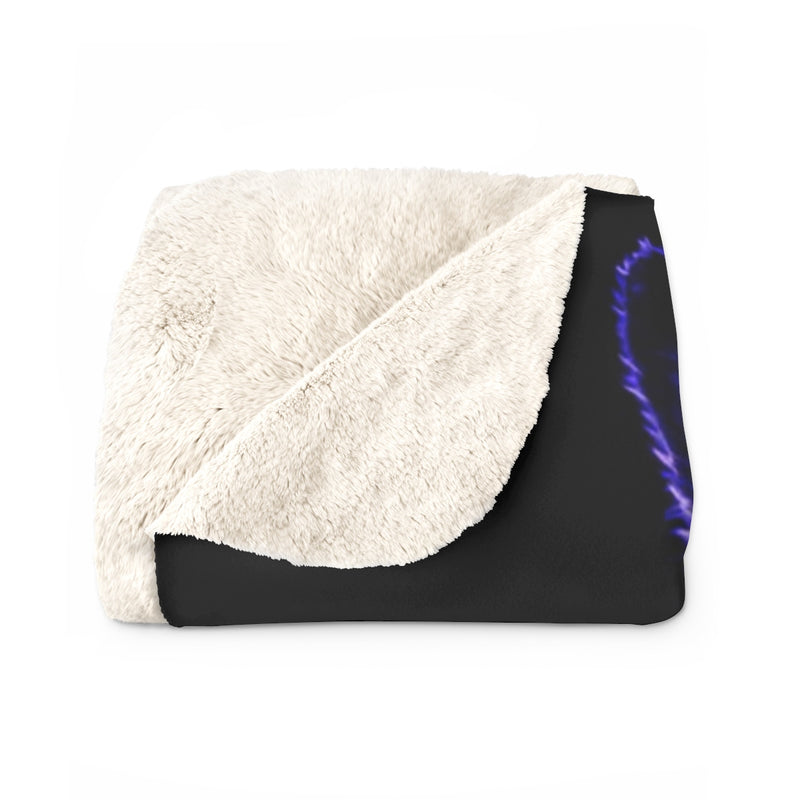 Brilliance Blue Sherpa Fleece Blanket