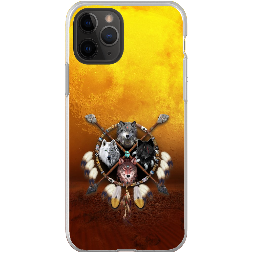 4 Wolves Warrior Light Phone Cases