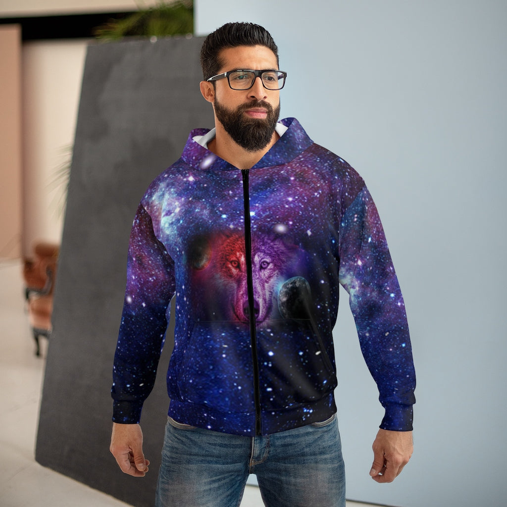 Dream Wolf Moon All Over Print Zip Hoodie