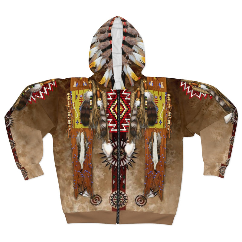 Shamans Apprentice All Over Print Zip Hoodie