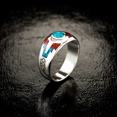 "Sleeping Beauty ""Mountain"" Ring in 925 Sterling Silver"