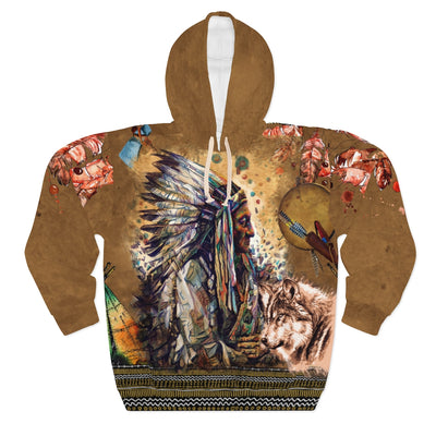 Wolf Warrior All Over Print Hoodie