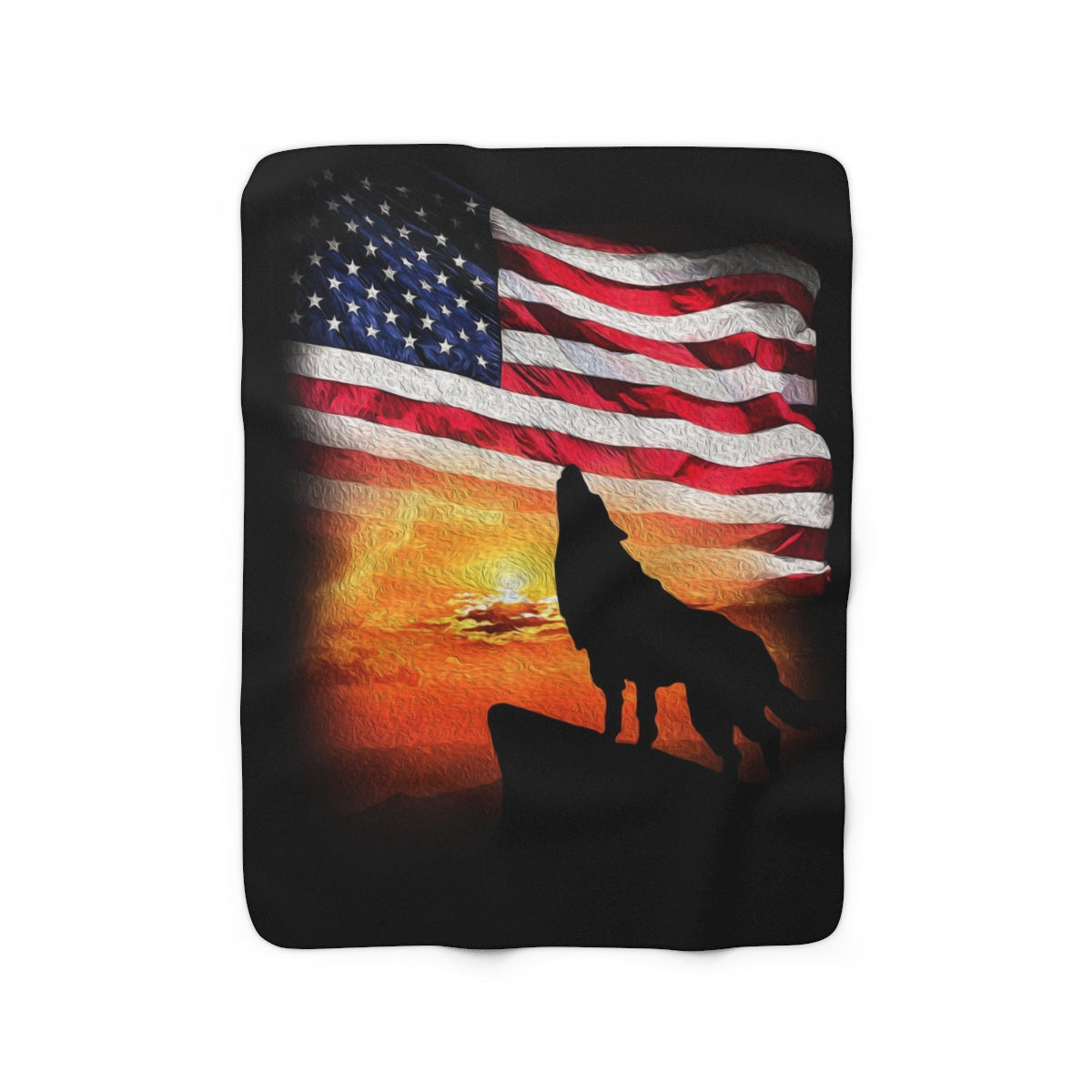 Anthem of Freedom Sherpa Fleece Blanket