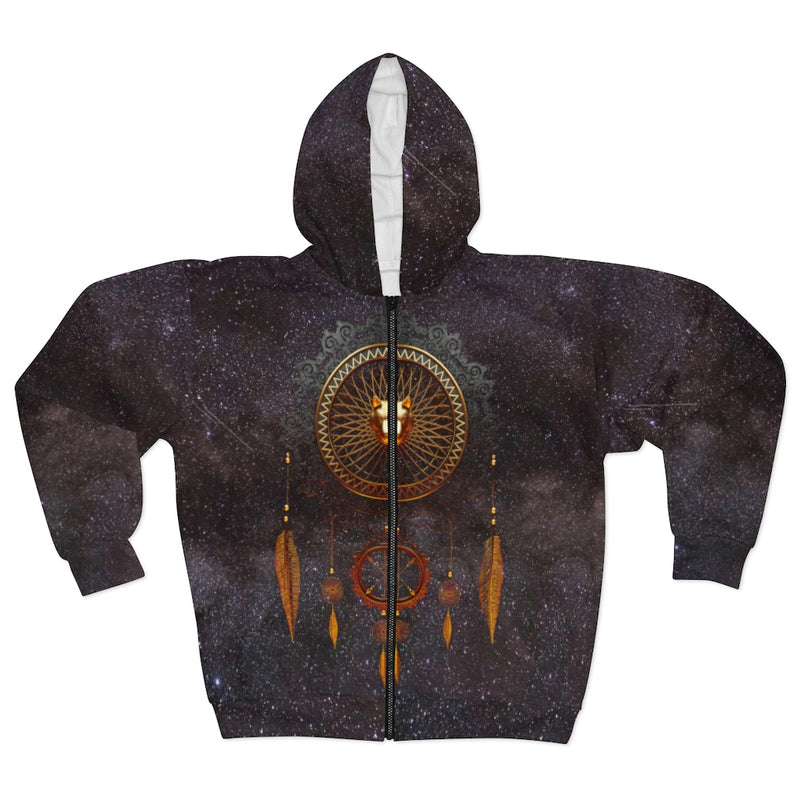 Eternal Wolf All Over Print Zip Hoodie