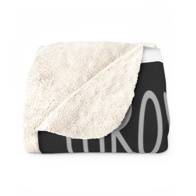 Throw Me To The Wolves Sherpa Fleece Blanket