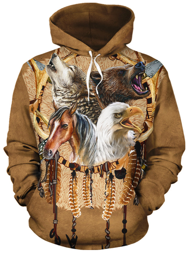 Totem Warriors All Over Print Hoodie