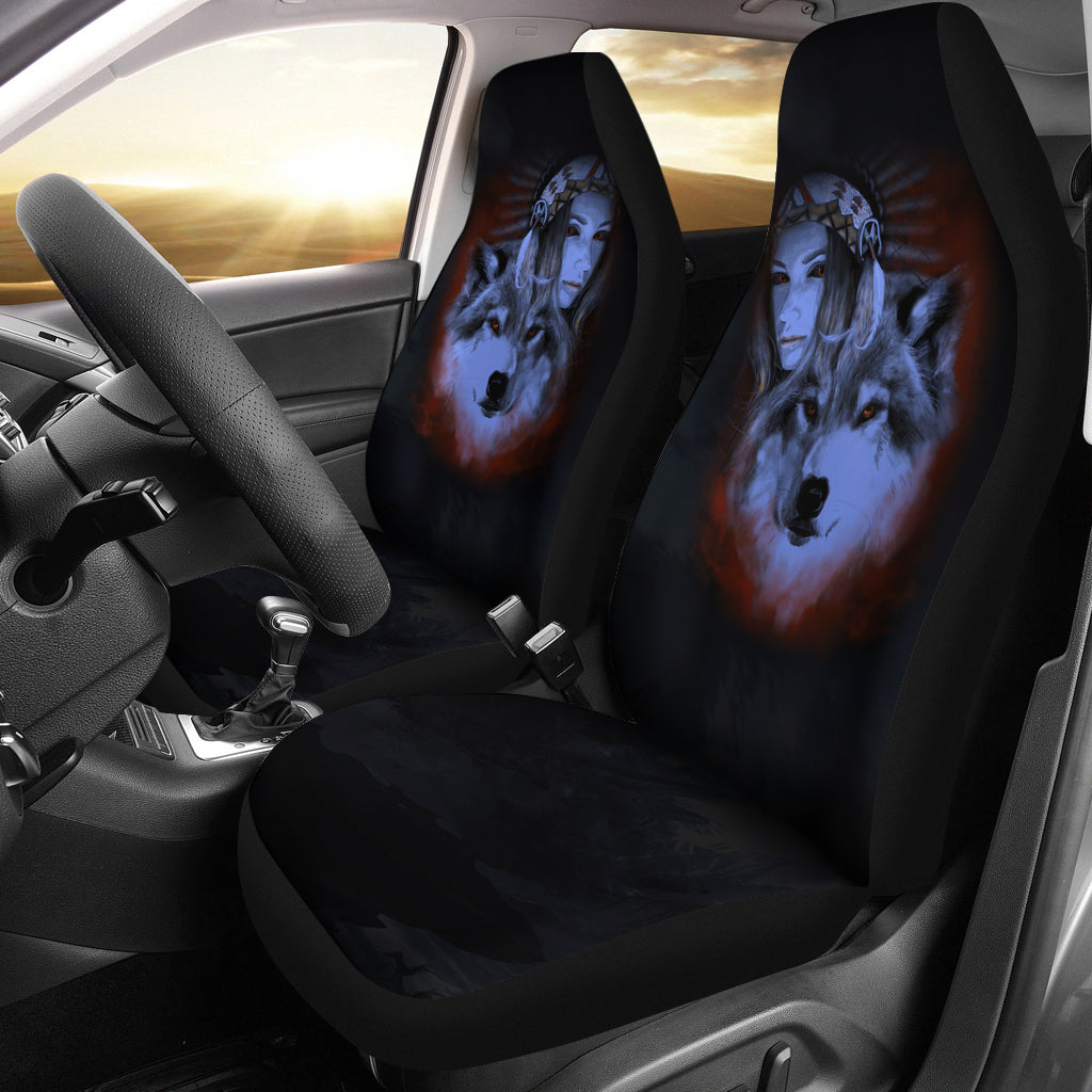 My Wolf My Spirit Car Seat Cover
