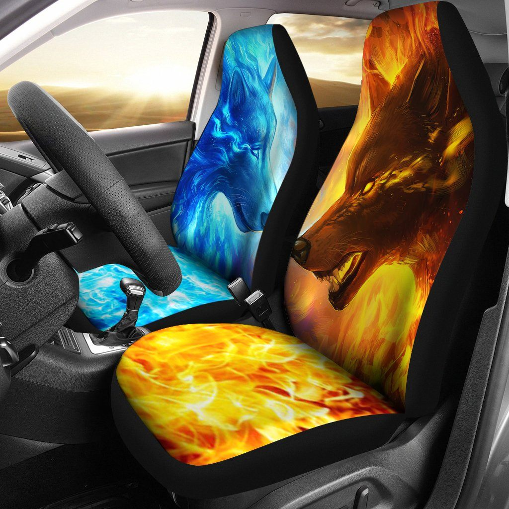 Fire and Ice Car Seat Cover