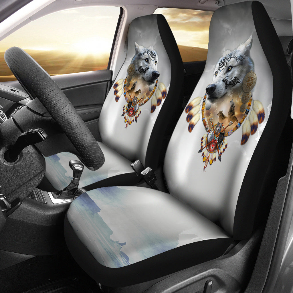 Song of the Elder Warrior Car Seat Cover Dark