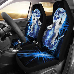 Moon Wolf Car Seat Cover
