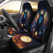 Load image into Gallery viewer, Wolf Dreamcatcher Car Seat Cover