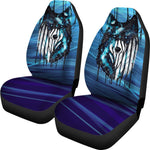 Dripping Galaxy Wolf Car Seat Cover by Scandy Girl