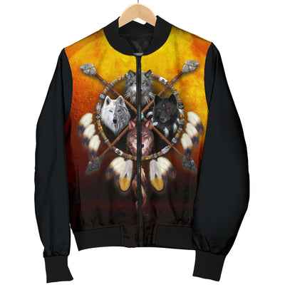 4 Wolves Warrior Bomber Jacket
