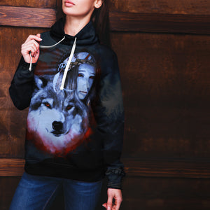 My Wolf My Spirit All Over Hoodie