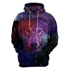 Dream Wolf Moon All Over Hoodie