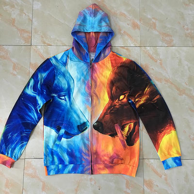 Fire and Ice Zip Hoodie