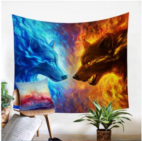 Fire and Ice by JoJoesArt Tapestry