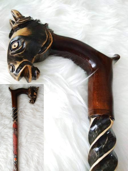 Horse Wooden Cane