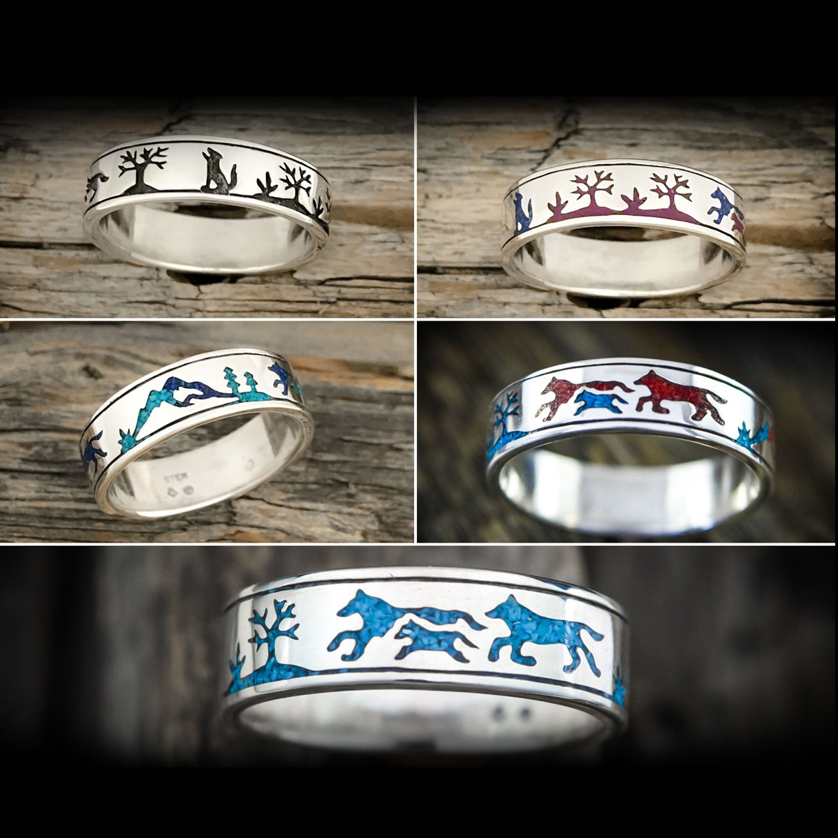 """Wolf Pack"" Ring WIth Personalization"