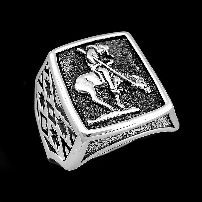 End of Trail Tribal Ring - Sterling Silver