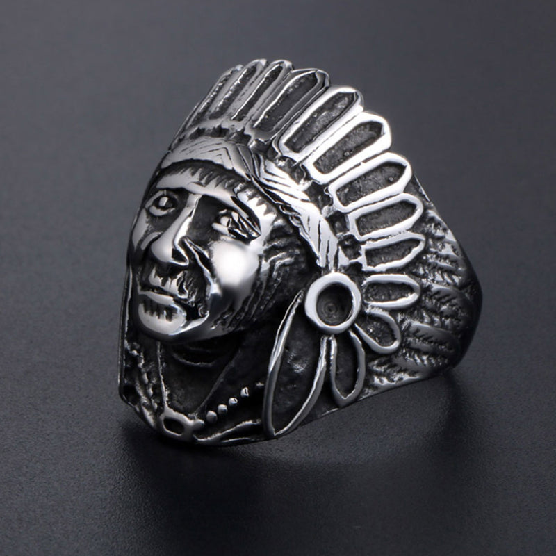 'The Chief'- Titanium steel ring