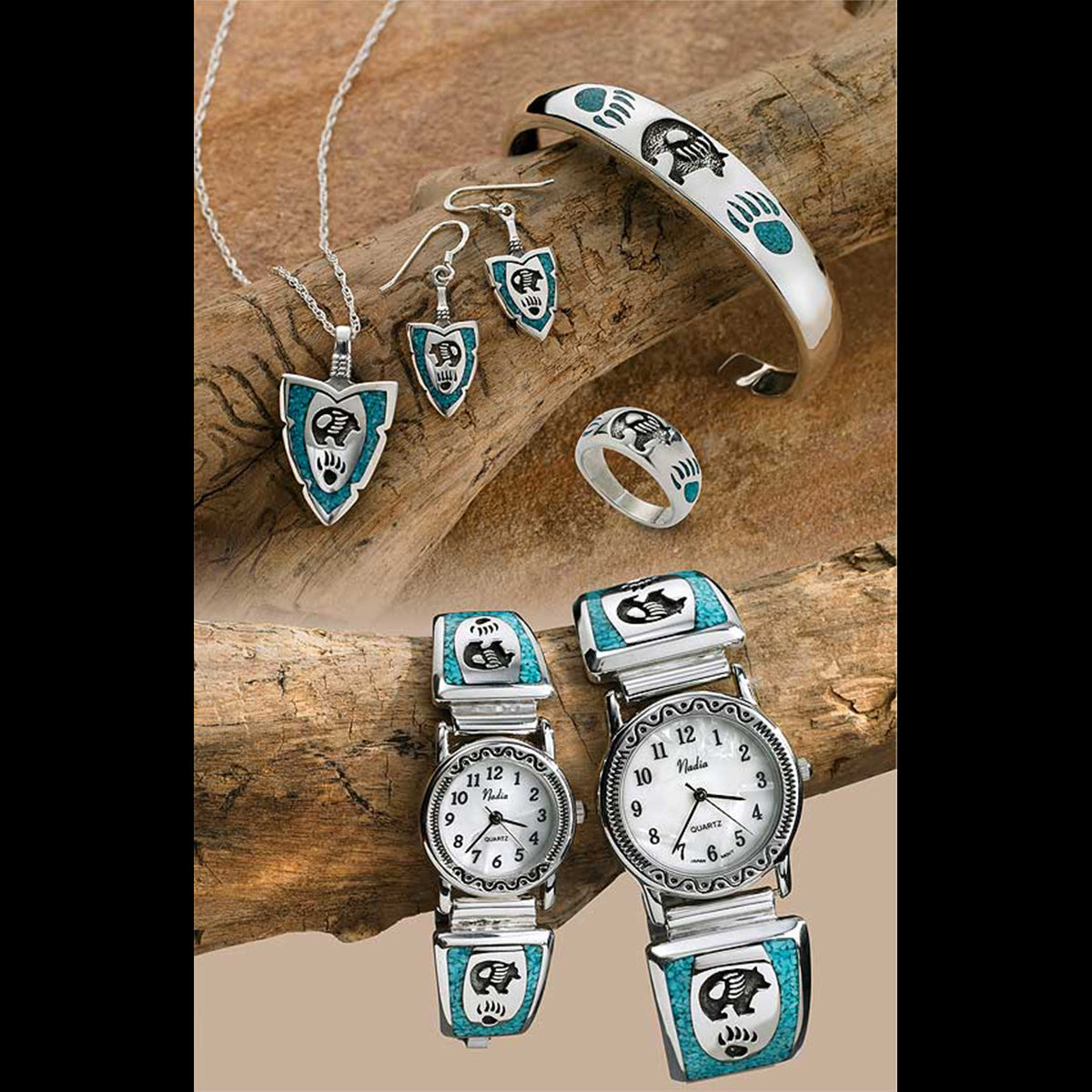 """Bear & Paw"" Jewelry Collection With Personalization"