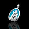 Tribal Howling Wolf Head Sterling Silver 925 Arrowhead Pendant