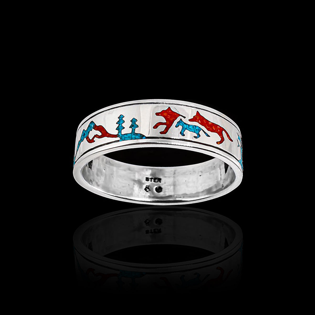 Band of Wolves™ Ring in 925 Sterling Silver