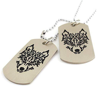 Wolf Totem Tag Necklace (2pcs of Dog Tags)