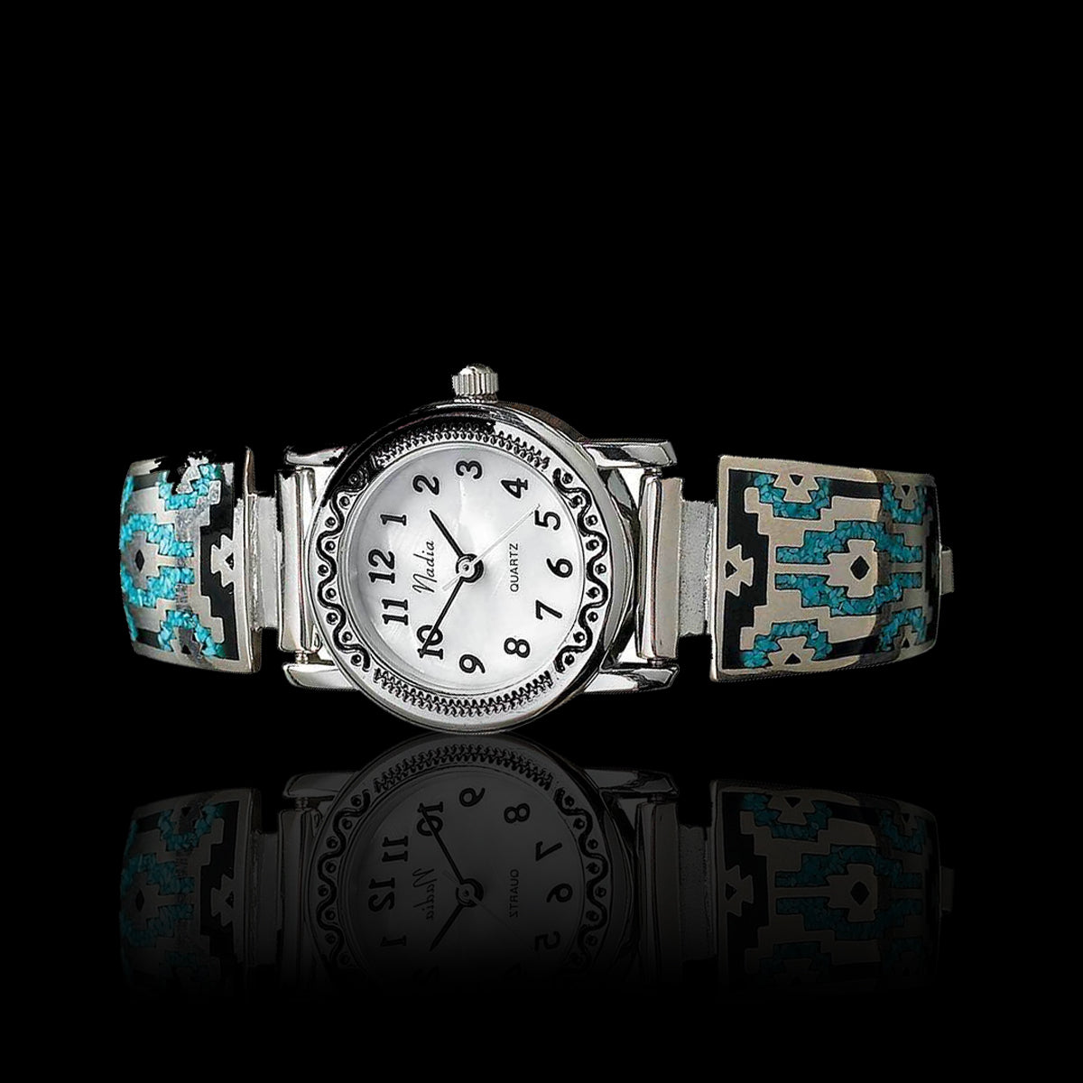 Native American Tribal design Watch - 925 Sterling Silver
