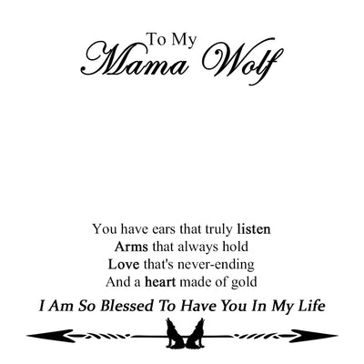 MAMA / ALPHA WOLF NECKLACE WITH BOX