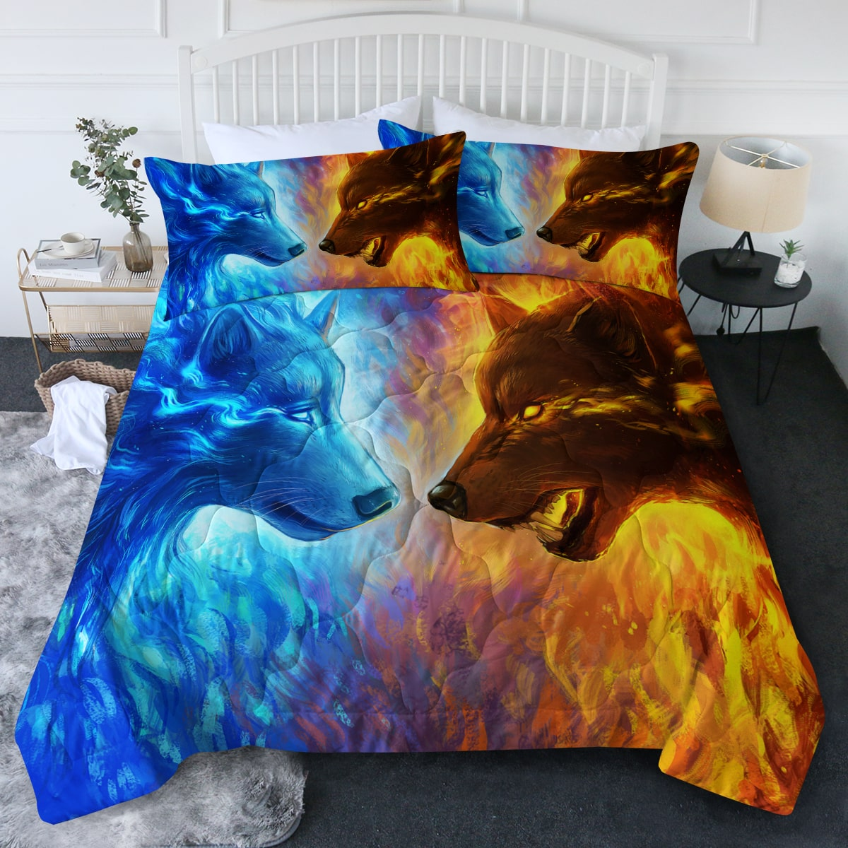 Fire and Ice by Jojoes Art Comforter Bedding Set