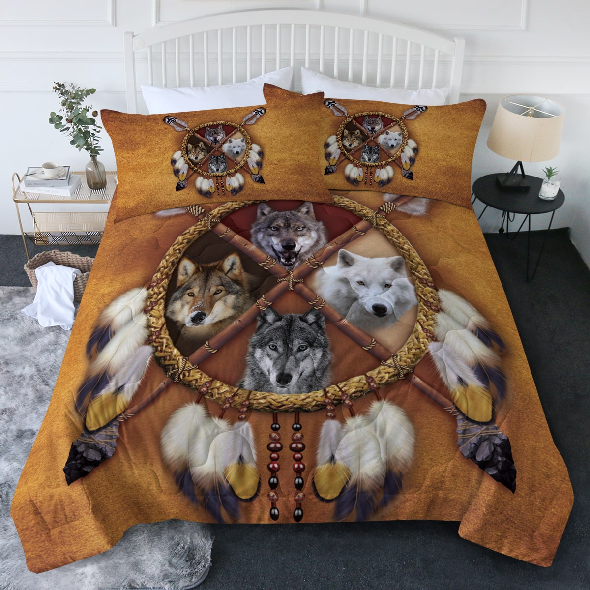 4 Wolves Comforter Bedding Set