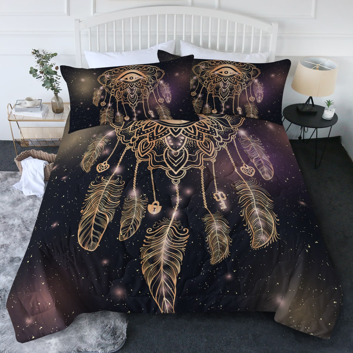 Dreamcatcher Black Comforter Bedding Set