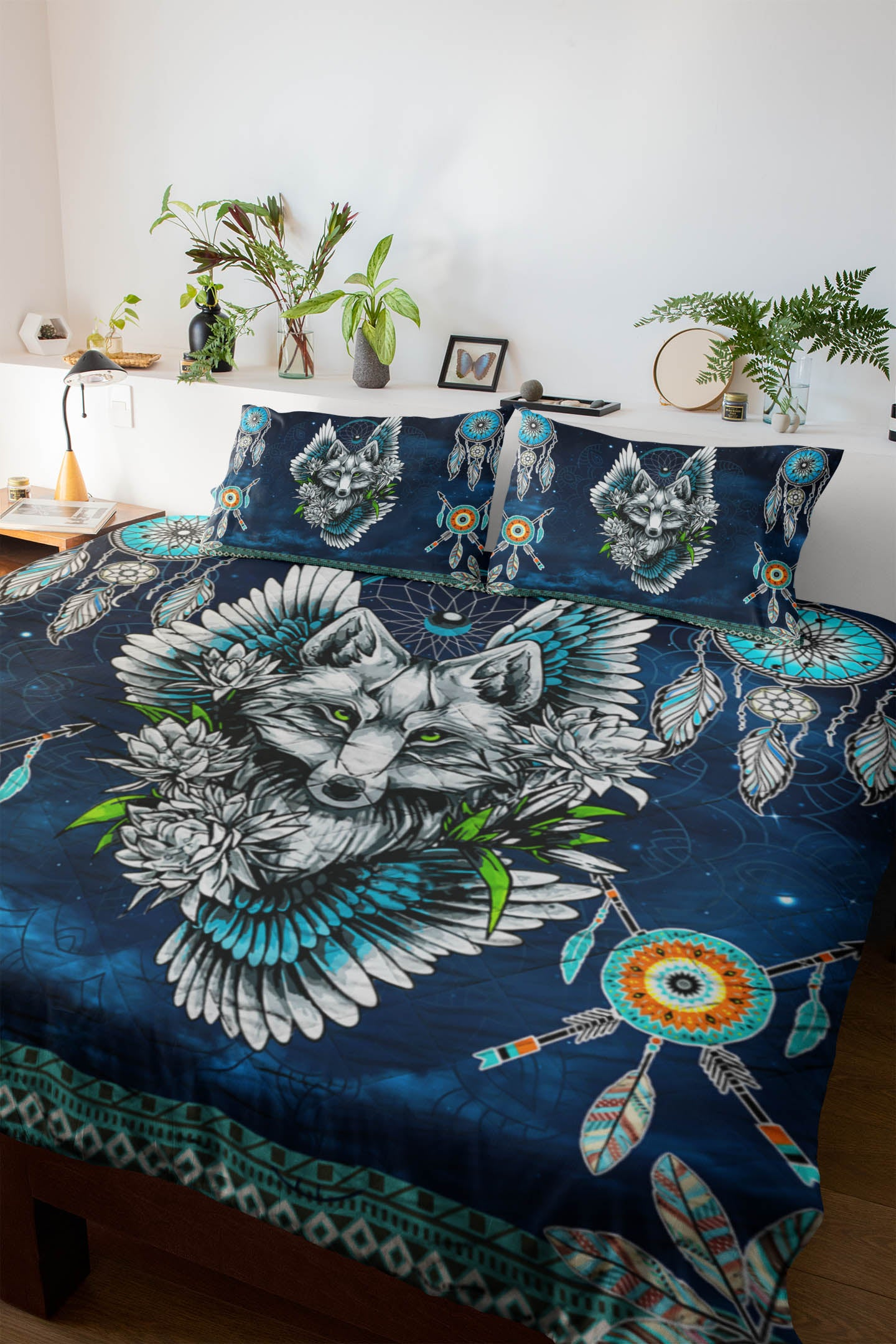 Wolf Dream Catcher Quilt Set