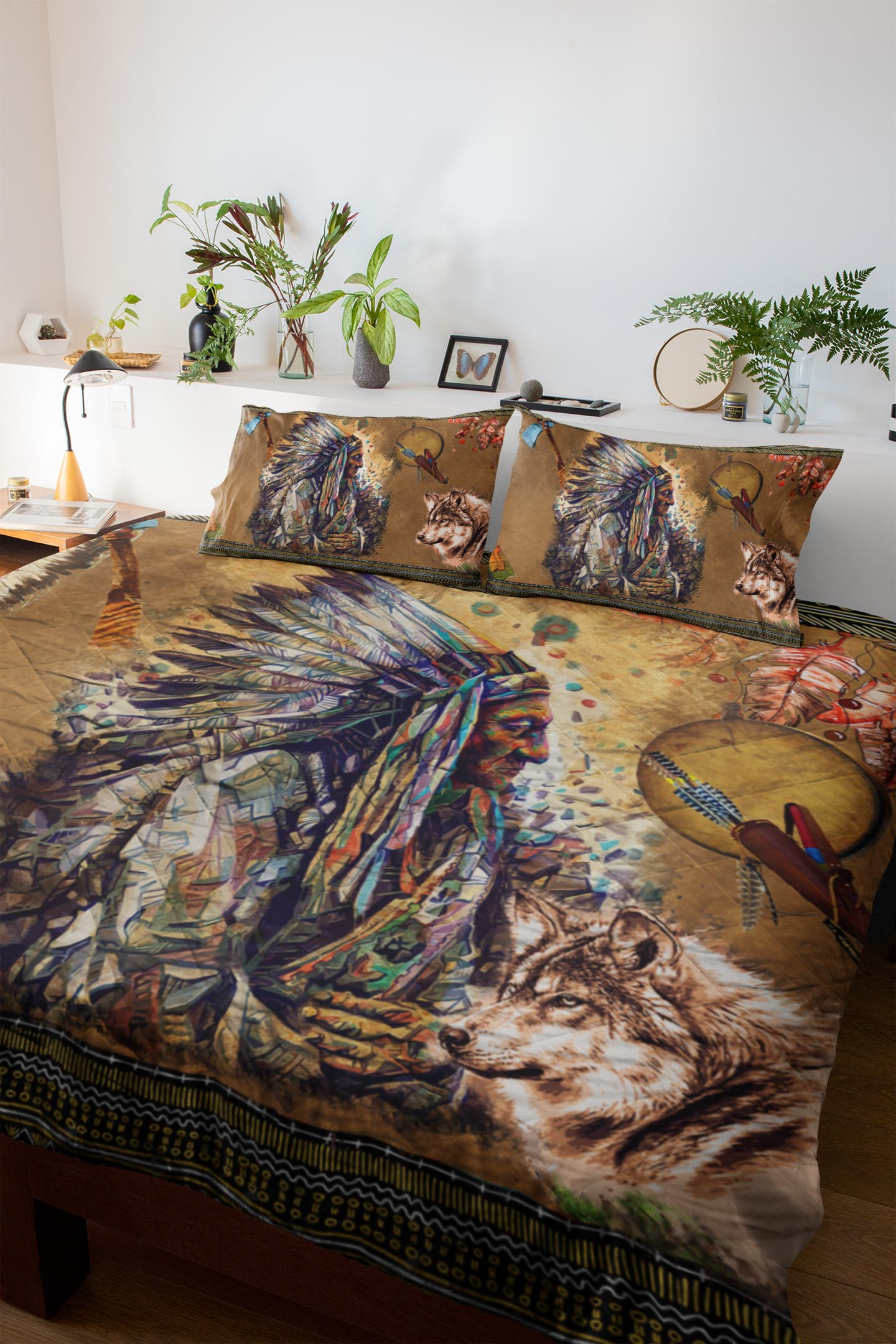 Wolf Warrior Quilt Set