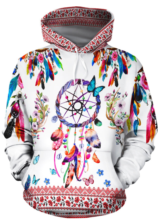 Floral Dreamcatcher All Over Print Hoodie