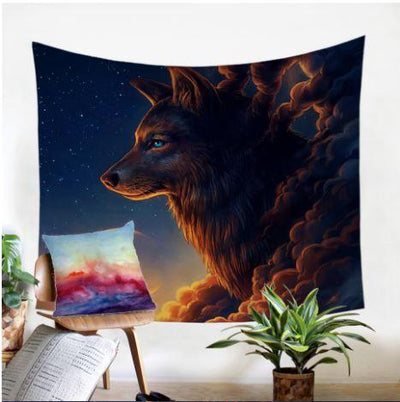 Night Guardian by JoJoesArt Tapestry