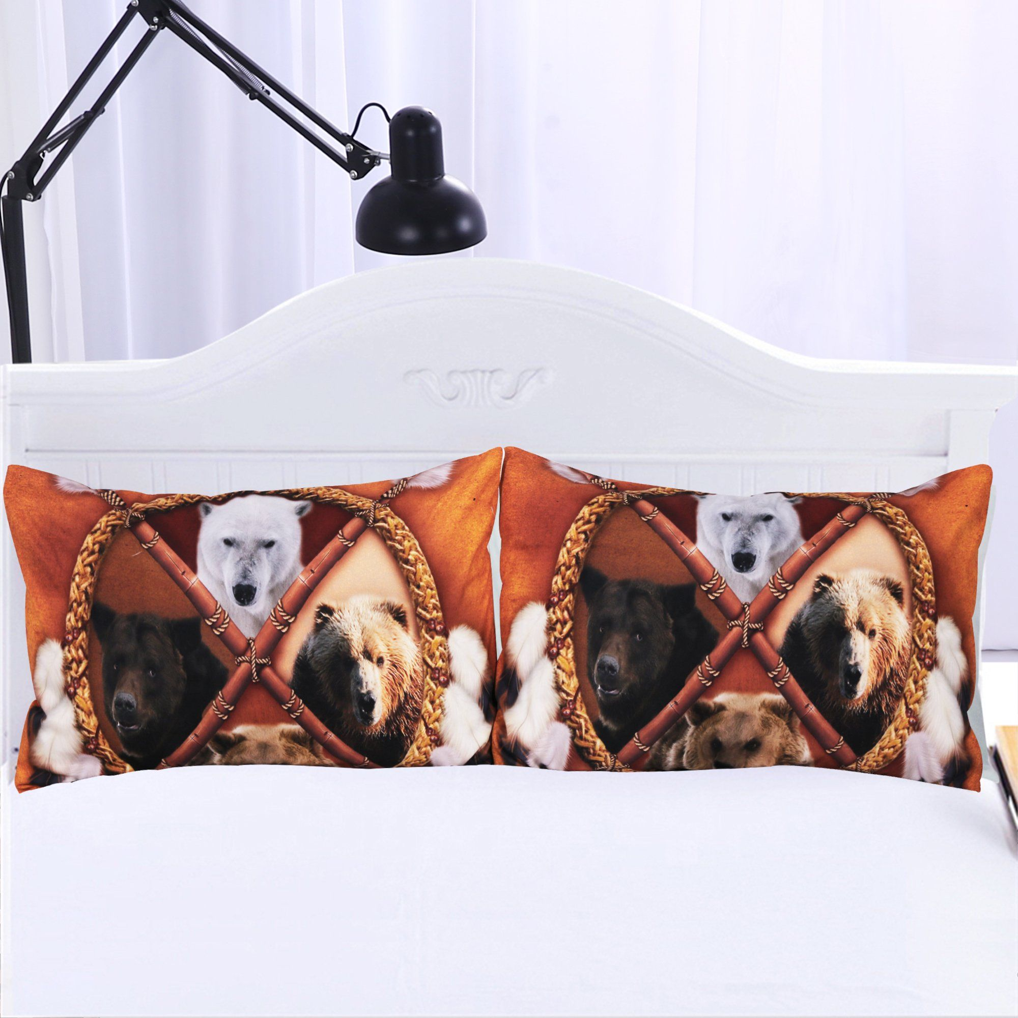 Four Bears Pillowcases- Set of 2