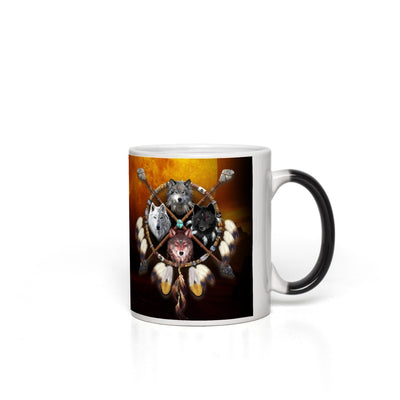 4 Wolves Dark Magic Mugs