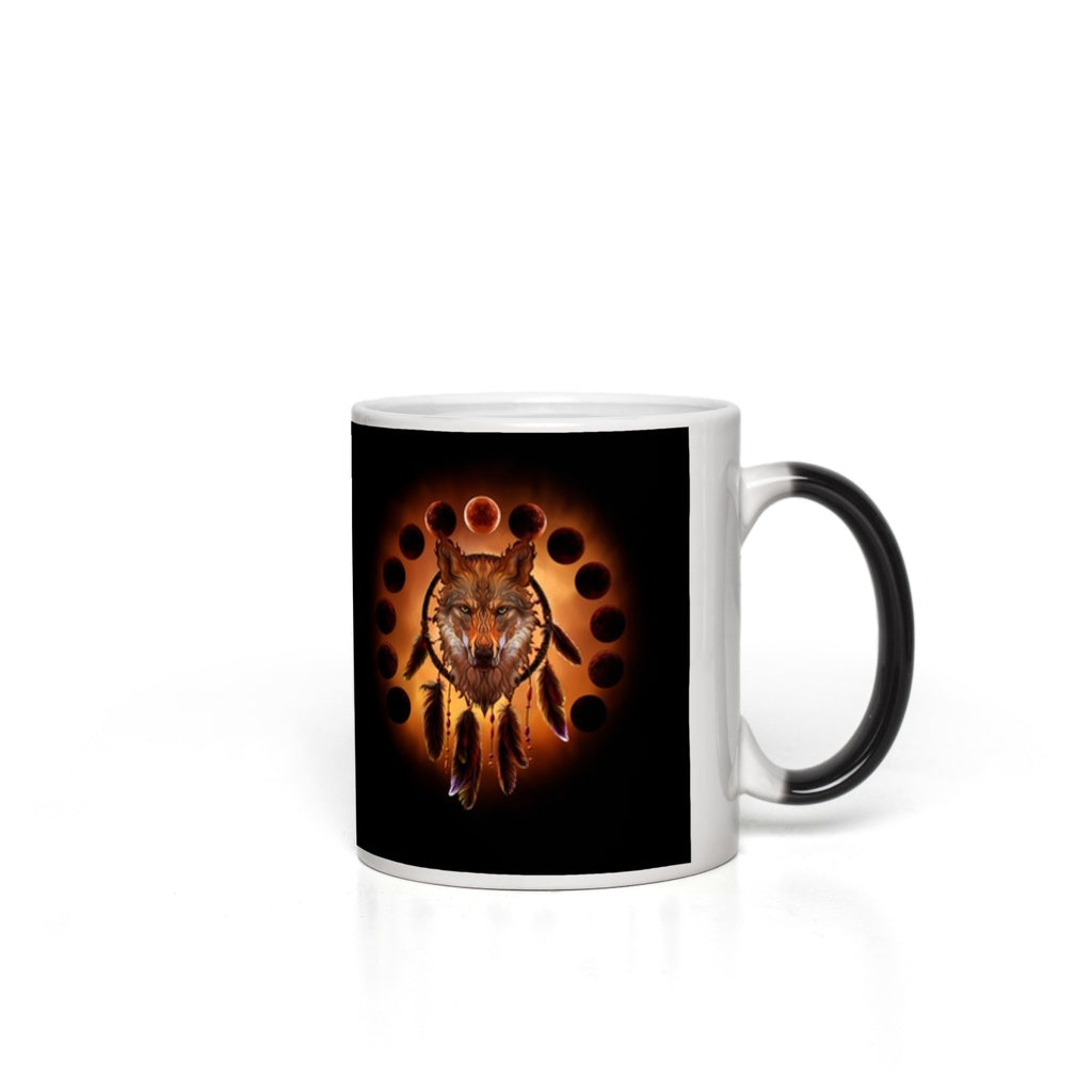 Blood Moon Wolf Magic Mugs