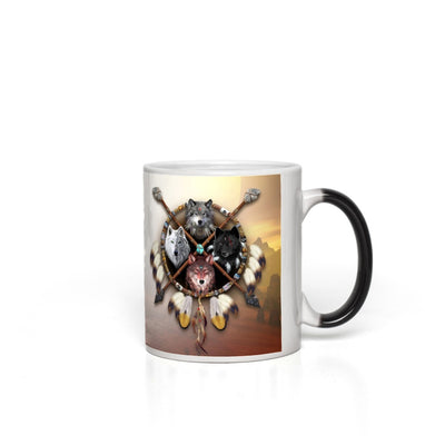 4 Wolves Light Magic Mugs