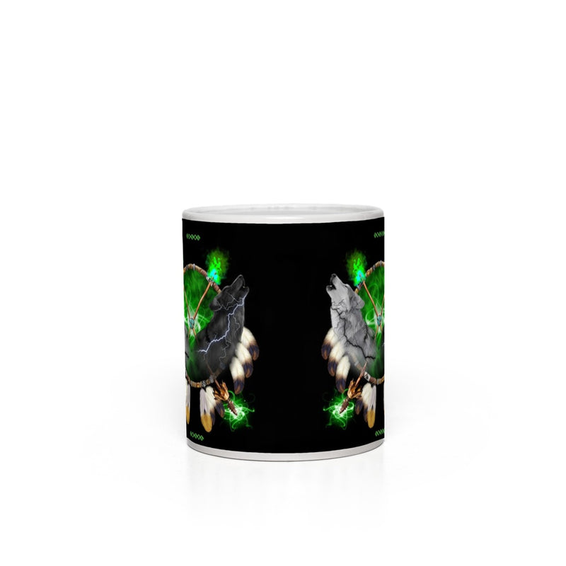 Day And Night Green Magic Mugs