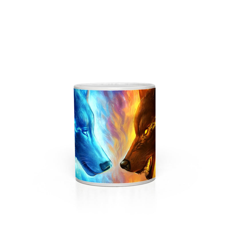 Fire And Ice by Jojoes Art Magic Mugs