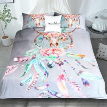 Load image into Gallery viewer, Skull Dreamcatcher Color Bedding 3pcs Set