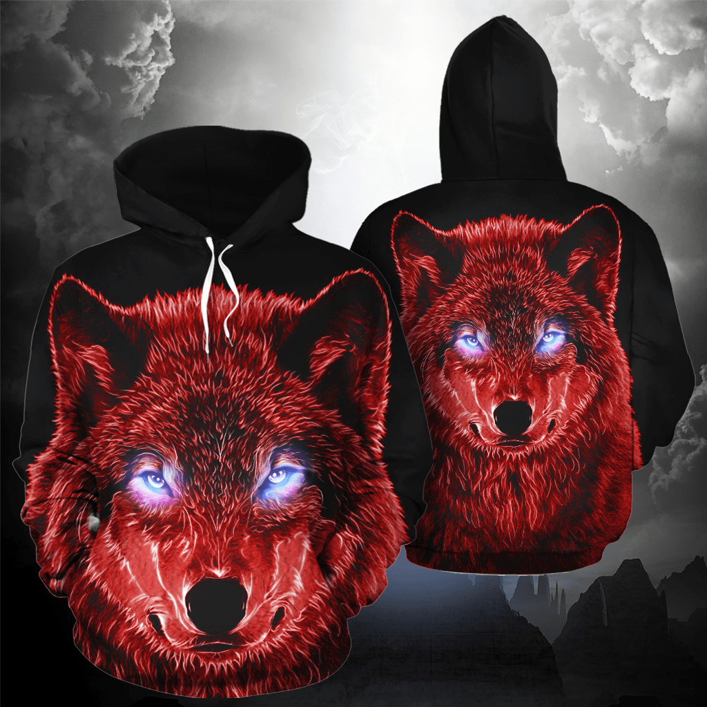 Brilliance Wolf All Over Print Hoodie