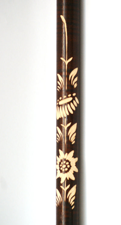Blackish Wolf Wooden Cane