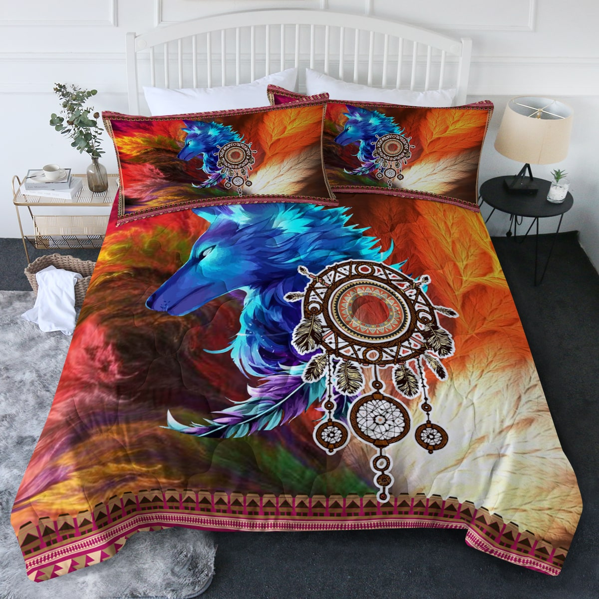 Storm Wolf Comforter Bedding Set