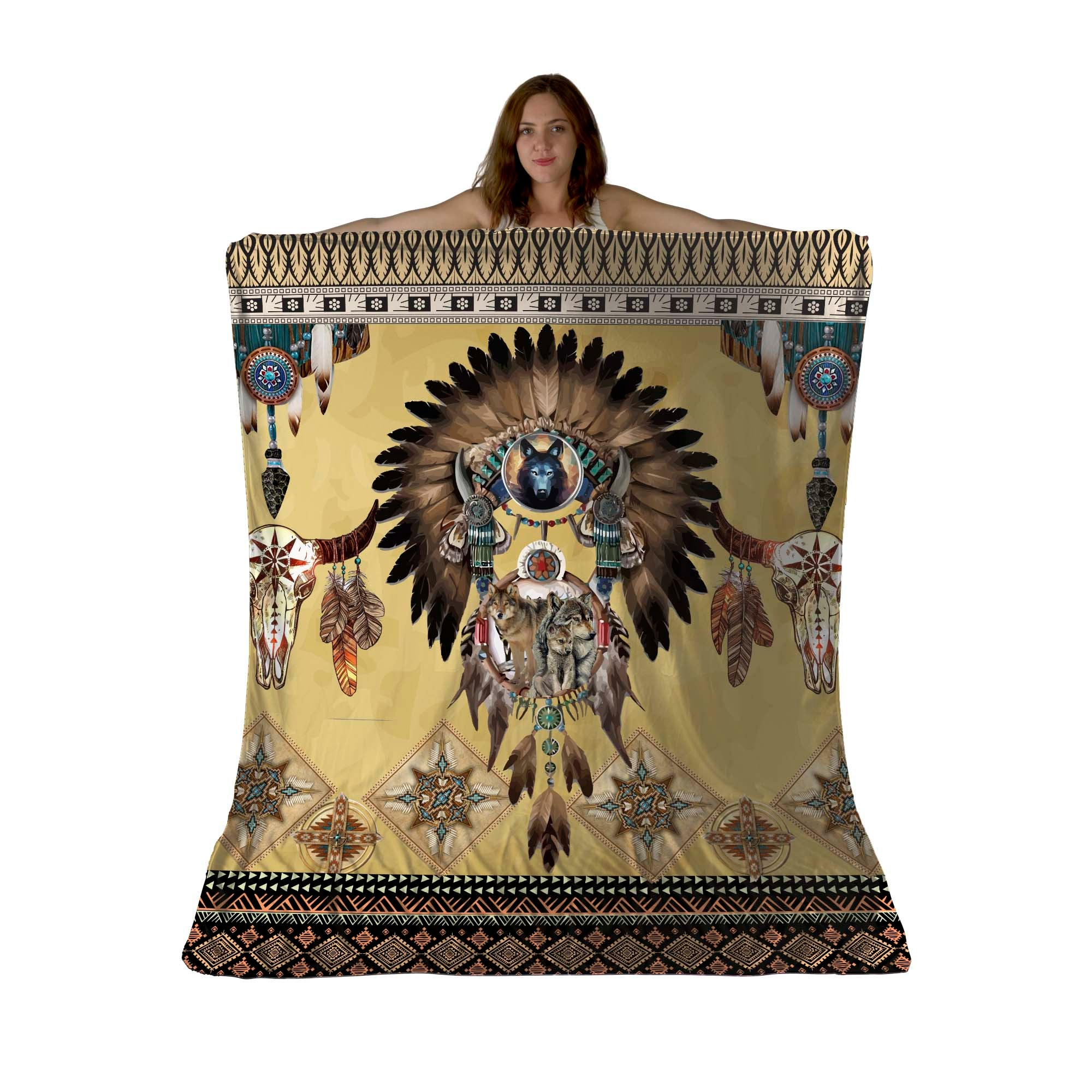 Totem Spirits Sherpa Fleece Blanket